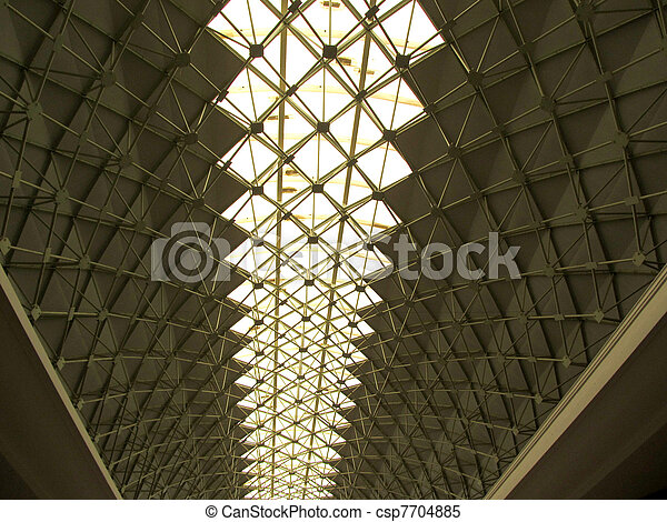 Architecture Roof of Dome Tunnel Structure with Natural Light Landscape Picture - csp7704885