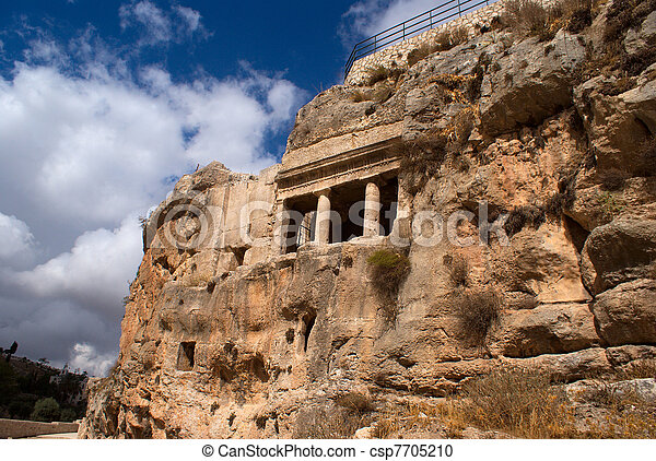 Archeology in Jerusalem - tourist attraction - csp7705210