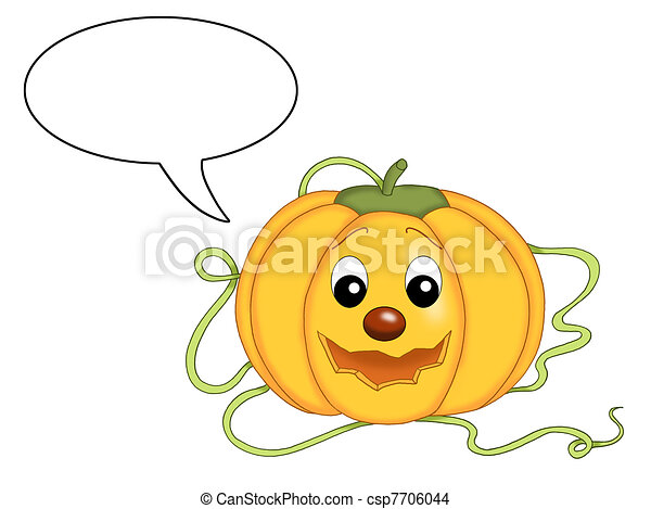 pumpkin of halloween that speaks - csp7706044