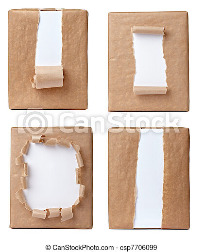 ripped wrapping box package  - csp7706099