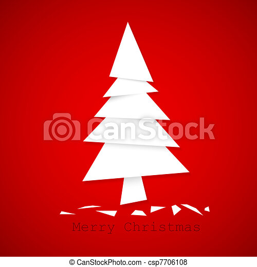 Simple vector paper christmas tree - csp7706108