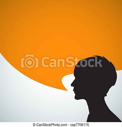 Abstract speaker silhouette - csp7706115
