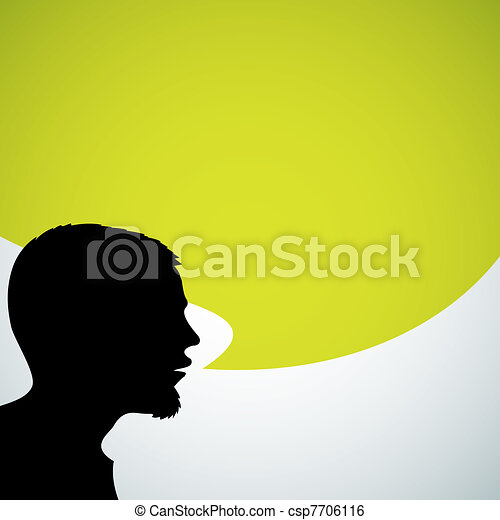 Abstract speaker silhouette - csp7706116