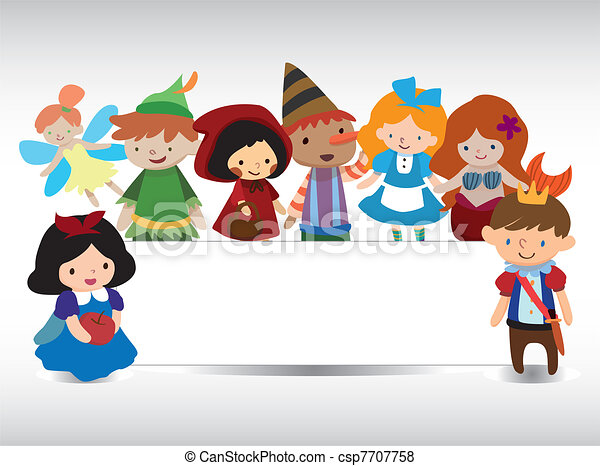 cartoon story people card - csp7707758