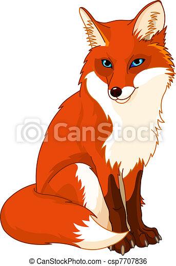 Cute  fox - csp7707836