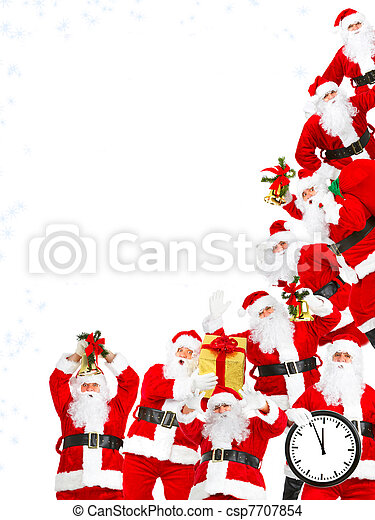 Santa Claus group. - csp7707854