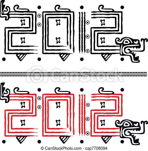 Mayan dragon 2012 - csp7708094