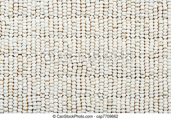 Texture. Part of authentic Indian beaded collar. - csp7709662