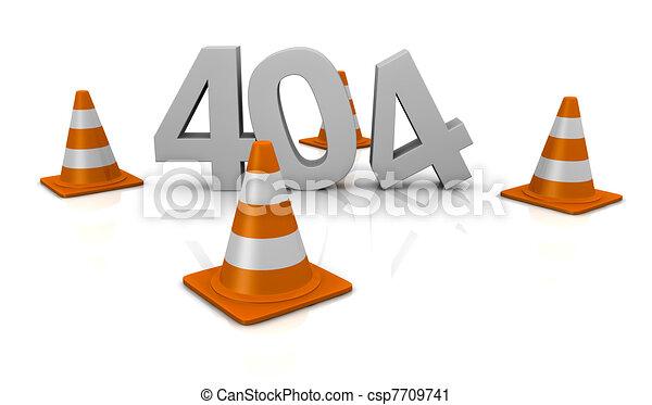 error 404 concept - csp7709741