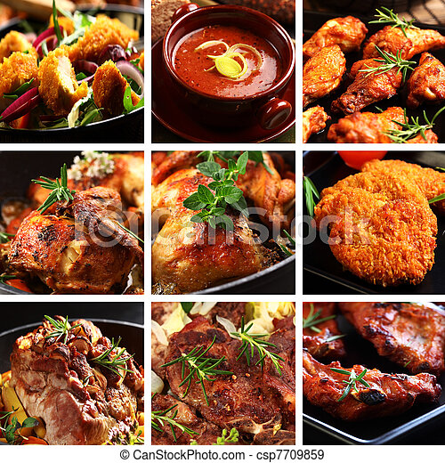 Meat dishes - csp7709859