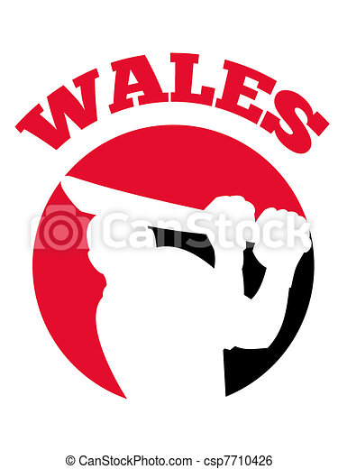 cricket player batsman batting retro Wales - csp7710426