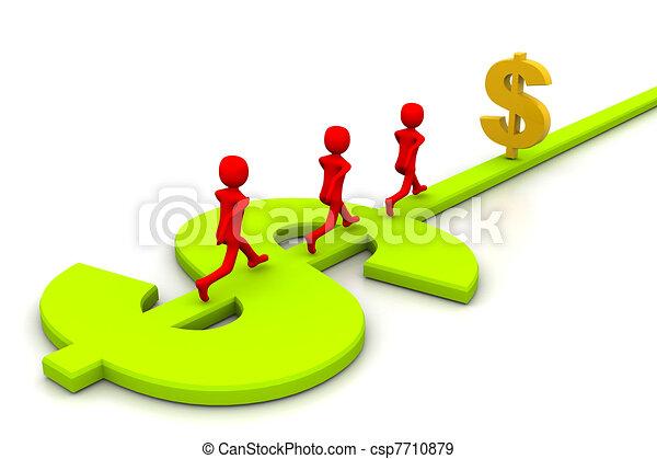 Road to prosperity - csp7710879