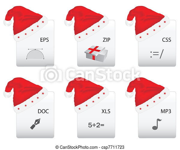 Web document icon with Christmas design - csp7711723