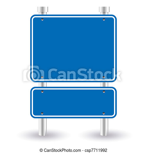 blue road sign - csp7711992