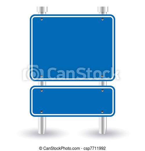 blue road sign - csp7711992