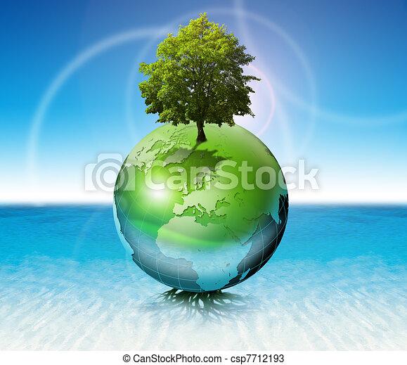 World tree -  ecology concept - csp7712193