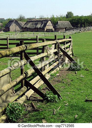 Medieval village - csp7712565