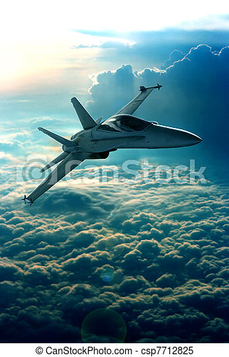 Fighter jet - csp7712825