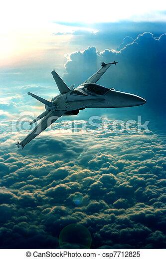 Fighter jet - csp7712825