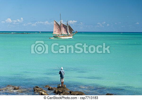 Tropical lagoon - csp7713183