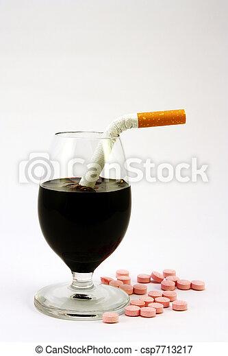 No, alcohol, cigarettes, drugs - csp7713217