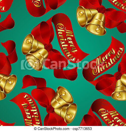 Merry Christmas wrapping paper - csp7713653