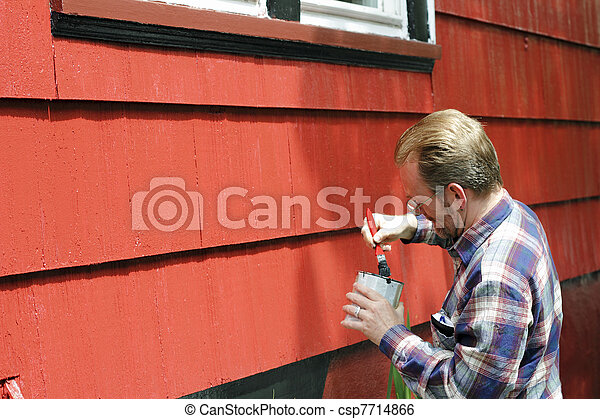 Home Improvement Painting - csp7714866
