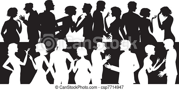 Group of talking people - csp7714947