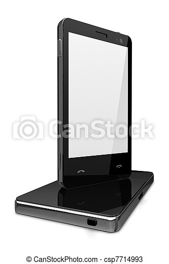 Blue screen cell phones isolated - own design - csp7714993