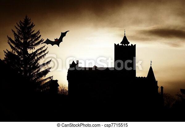 Dracula Castle Art Dracula Castle Scary Scene at