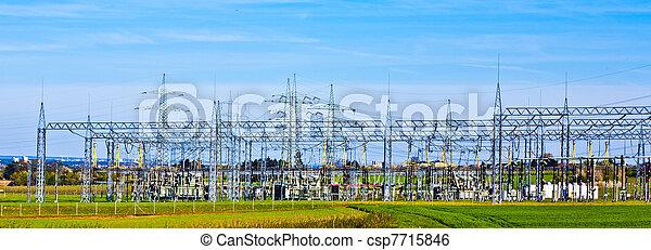 transformer station in landscape