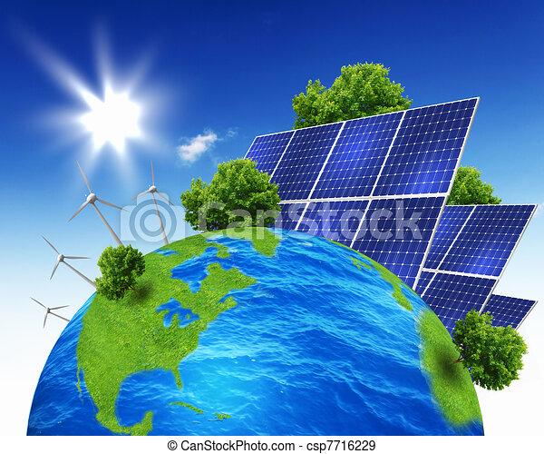 illustration de plan te la terre solaire nergie piles vert csp7716229 recherchez. Black Bedroom Furniture Sets. Home Design Ideas