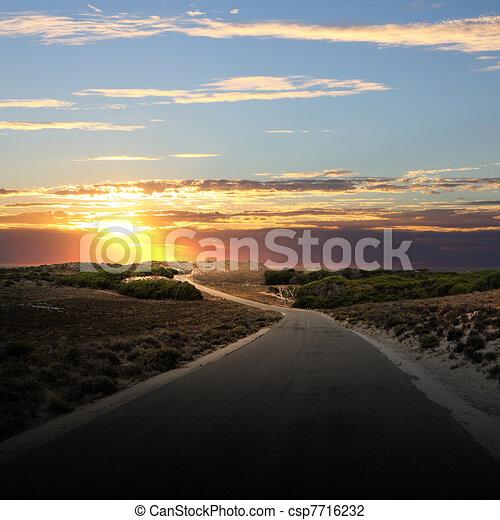Asphalt road in countryside - csp7716232