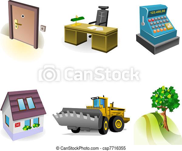 Real Estate Icon Set - csp7716355