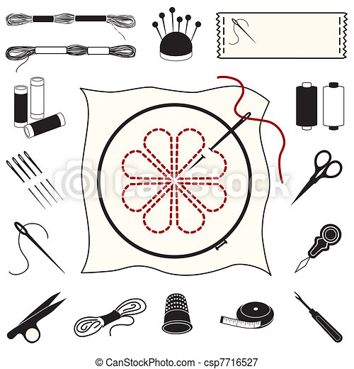 Embroidery and Needlework Icons - csp7716527