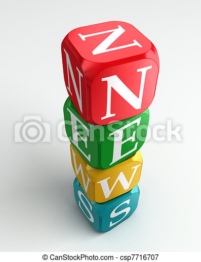 news 3d colorful buzzword tower - csp7716707