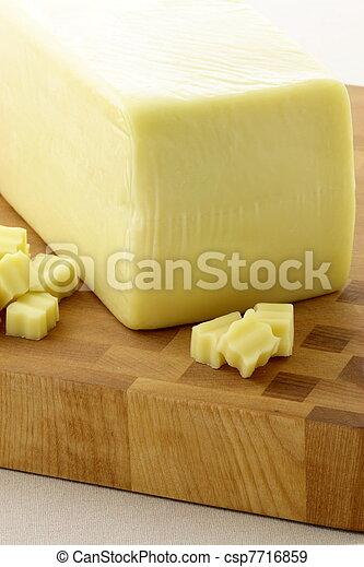mozzarella cheese block  - csp7716859