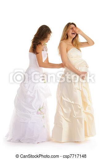 bilder von freundin braut weinen schwanger weinen schwanger csp7717148 suchen sie. Black Bedroom Furniture Sets. Home Design Ideas