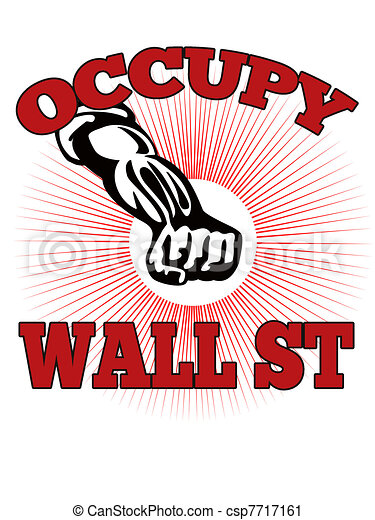 Occupy Wall Street American Worker - csp7717161