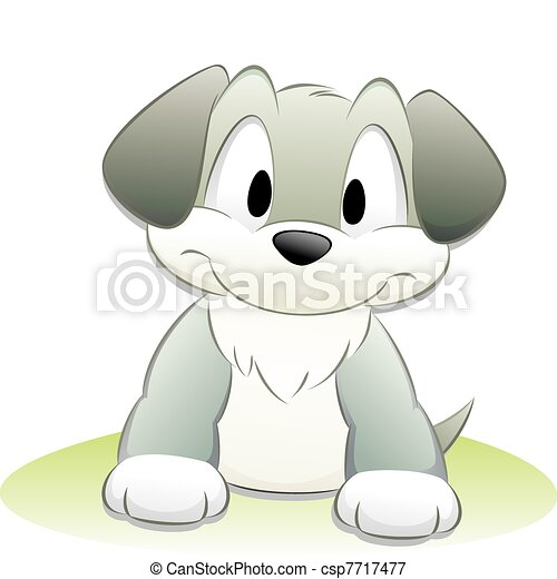 Cute Cartoon Dog - csp7717477