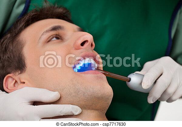 Dentist with UV Light - csp7717630