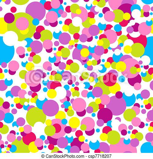 Confetti New Year pattern - csp7718207