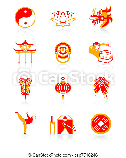 Chinese culture icons| JUICY series - csp7718246