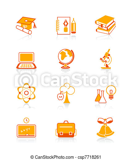 Education objects icons | JUICY - csp7718261