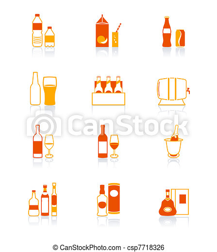 Drink bottle icons | JUICY series - csp7718326