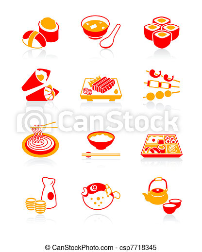lunch noodle for bar sushi Sushi,  Clipart icons siru miso Japanese  Vector JUICY  of