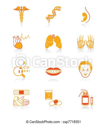 Medicine icons | JUICY series - csp7718351