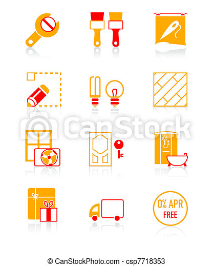 Home repair icons | JUICY series - csp7718353