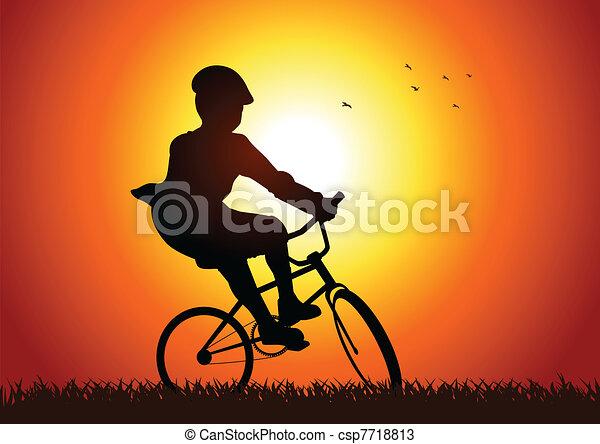 Playing Bicycle - csp7718813