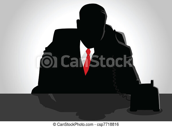 Boss On The Phone - csp7718816